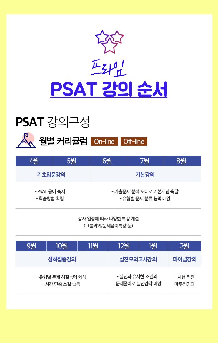 프라임 PSAT 2021 강의일정